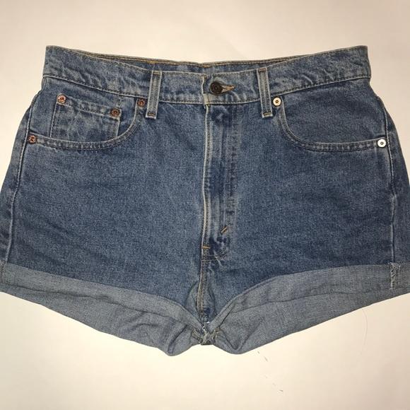 Levi's Pants - Levi's cut-off mom jean shorts